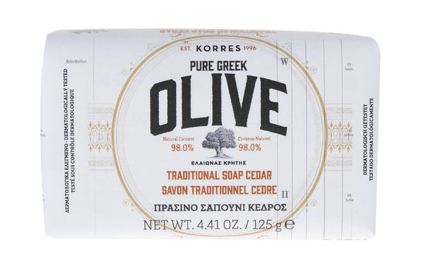 PURE GREEK OLIVE - CEDAR saippua 125g